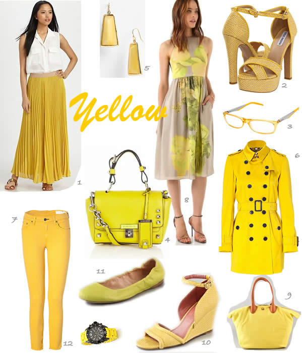 wearing yellow