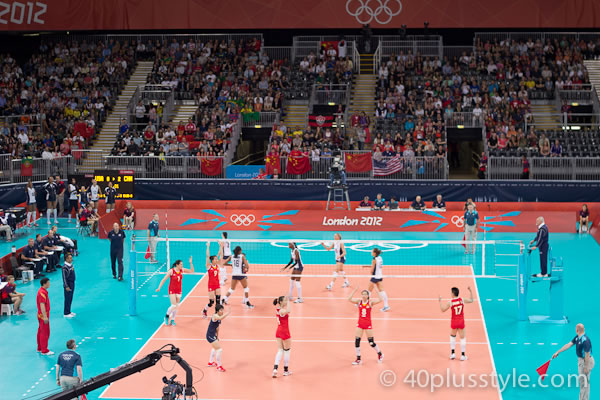 Olympic volleyball China versus US