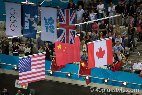 The winning flags