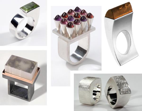 Designer rings by Gaal Gyongyver