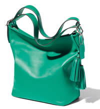 green bag coach for fall 2012