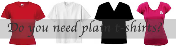 Do you need plain t-shirts