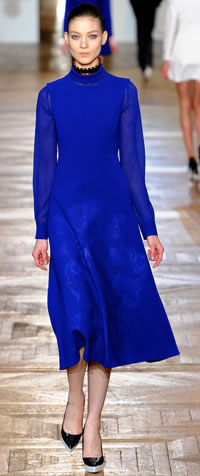 dress in royal blue by stella mccartney