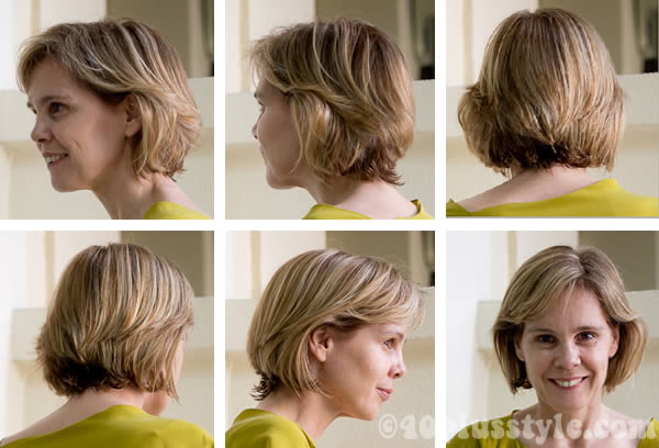 shorter haircut bob from all sides