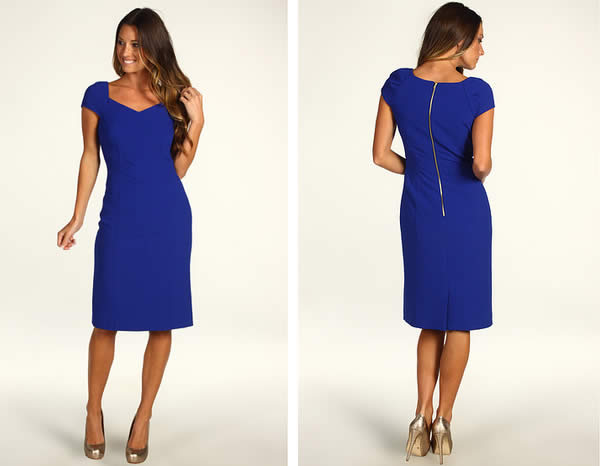 Tahari dress in cobalt