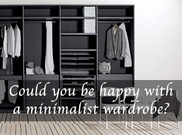 how to get a minimalist wardrobe and shop less