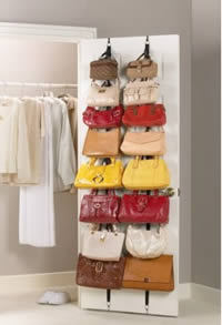 over the door hanging purse rack