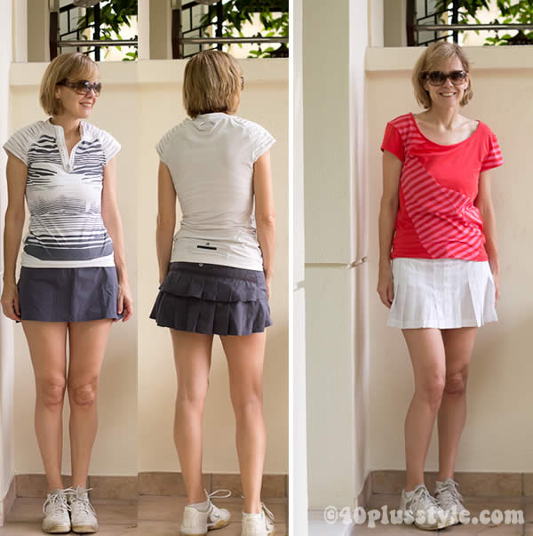 Tennis clothes for mature women
