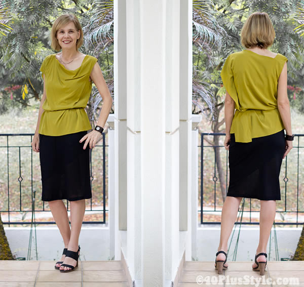 Alldressedup mustard silk top