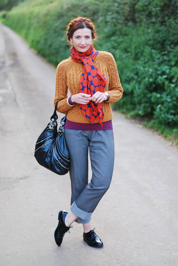 How to wear colour in abundance over 40