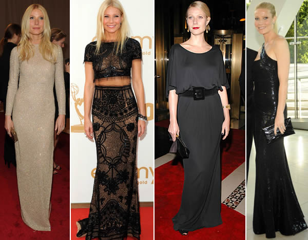 Paltrow in evening wear
