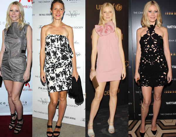 Gwyneth Paltrow in mini dresses