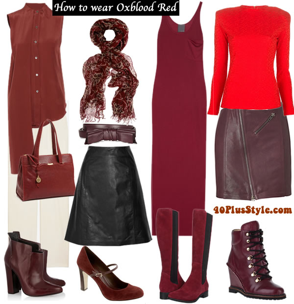 how to wear oxblood red