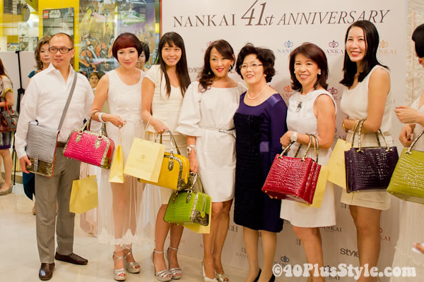 showcasing Nankai bags