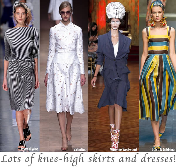 knee high skirts and dresses