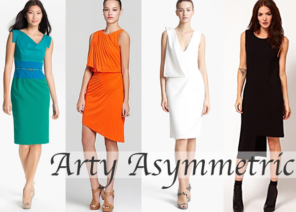 Asymmetric dresses and tops