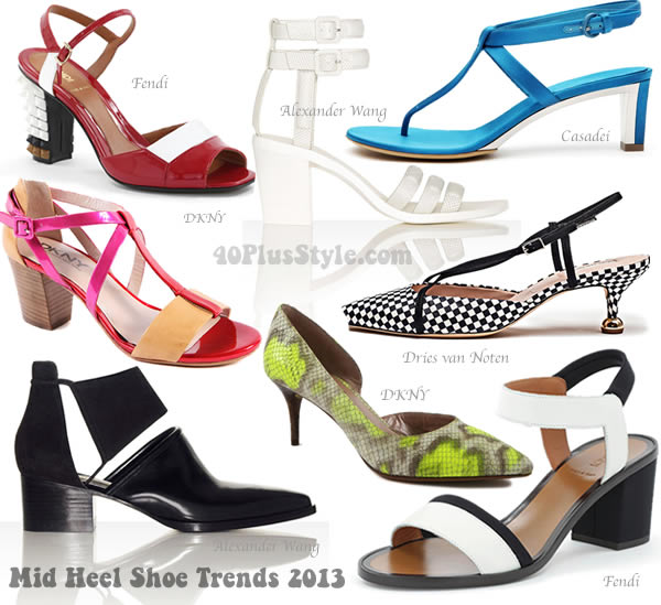 The best mid heel shoe trends spring 2013