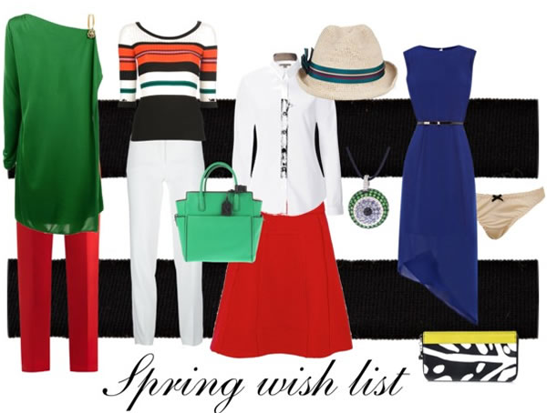 shopping list for spring 2013
