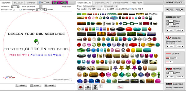 Create Your Own Necklace Online