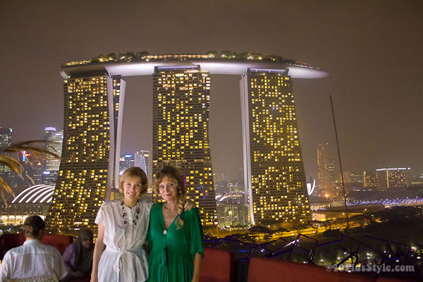 women in green Indochine Singapore