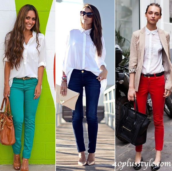 how to wear white shirt with pants