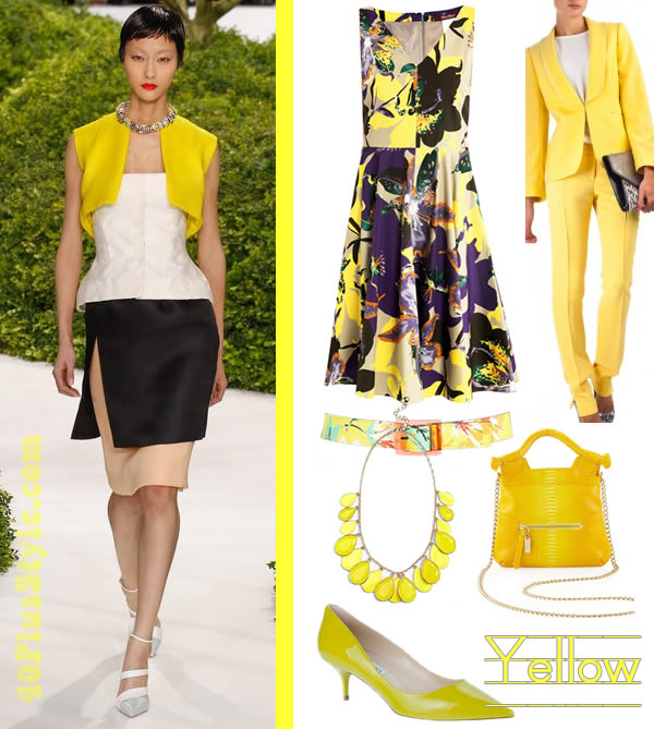 Light yellow dress outfits.