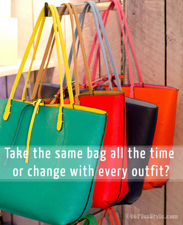 Change bag or use the same all the time