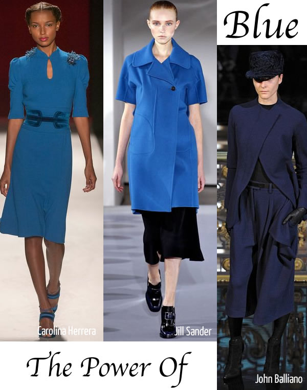 blue is one of the winter 2013 fashion trends