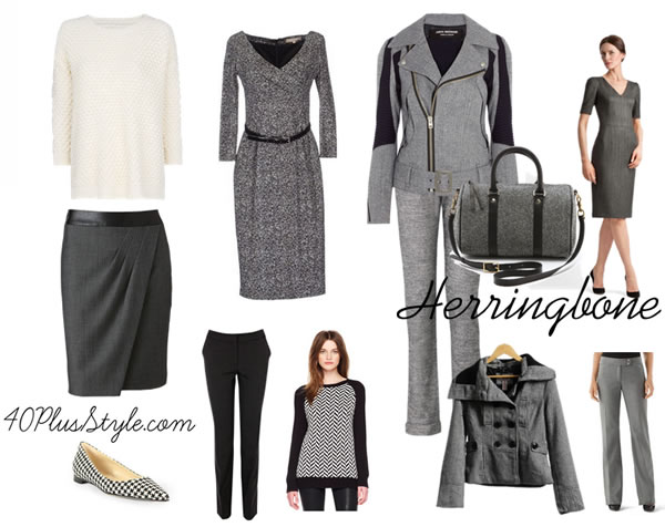 How to wear herringbone