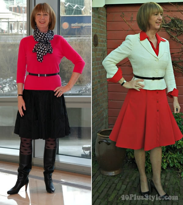 How to wear an a-line skirt over 40
