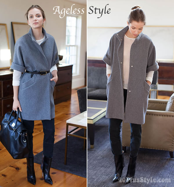 Ageless style - coat with dolman sleeves from emerson fry