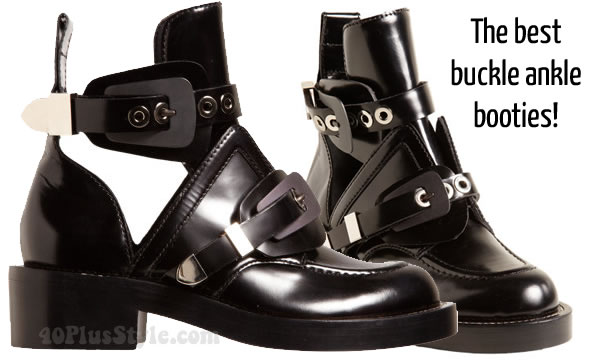 balenciaga buckle ankle booties