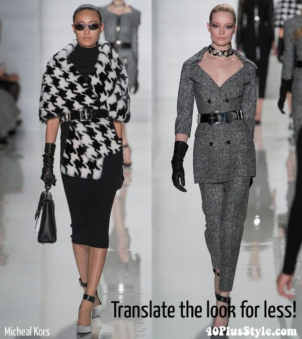 How to wear houndstooth for less