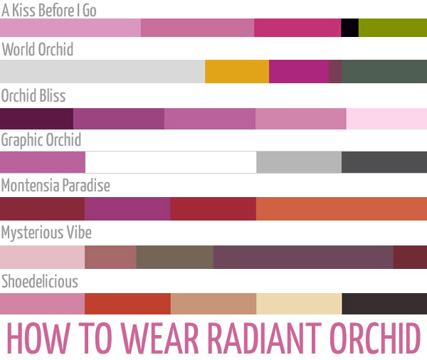 color combinations with radiant orchid | 40PlusStyle.com
