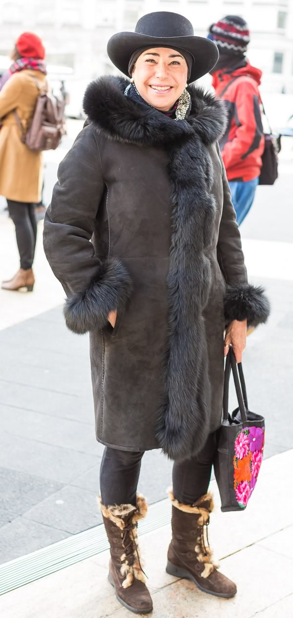 Street Style Fashion And Fur Coats Worn By Women Over 40