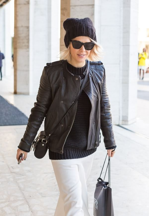 12 Streetstyle Looks By Women Over 40 Featuring Leather