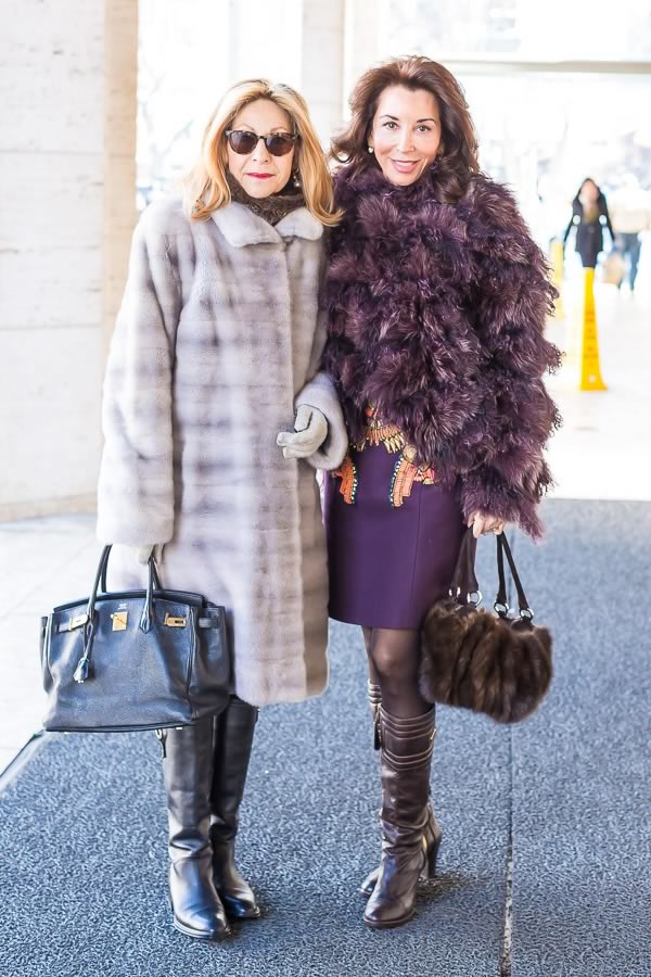 40+Style inspiration and street fashion: fur coats | 40PlusStyle.com