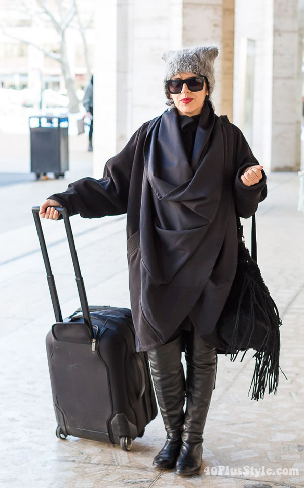 40+ Style Inspiration: making a statement in all black | 40PlusStyle.com