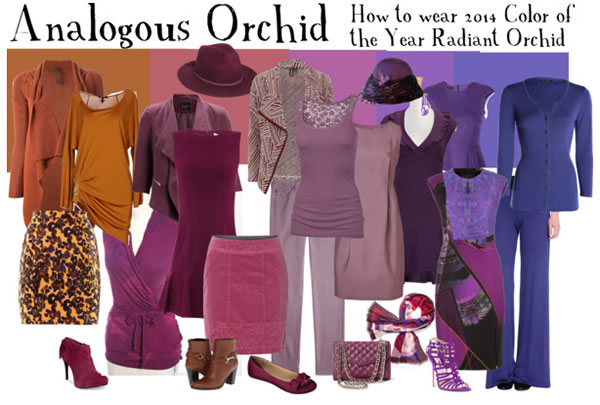analogues orchid - a great autumn palette to wear radiant orchid | 40PlusStyle.com