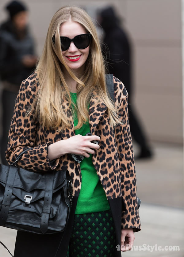 Ageless style inspiration: animal print jacket | 40PlusStyle.com