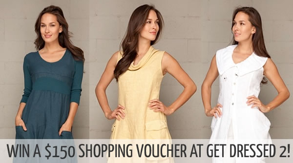 Discover Get Dressed 2 and win a $150 shopping voucher! Just click on the image (twice) to enter this giveaway.