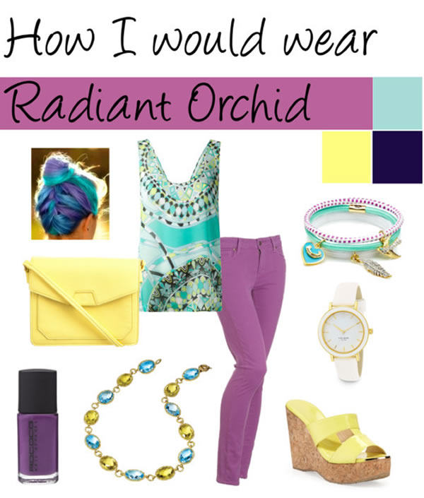 how i would wear radiant orchid | 40PlusStyle.com