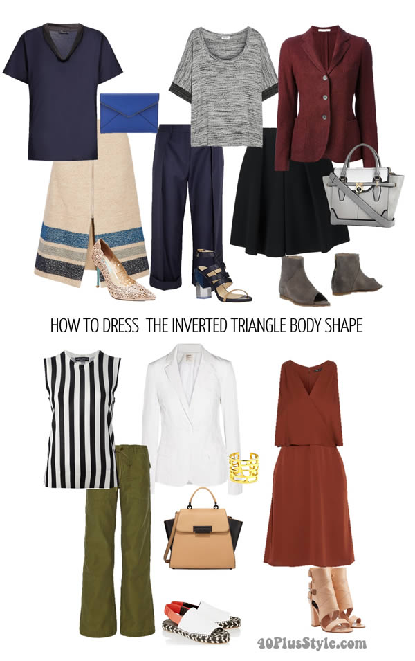 How To Dress The Inverted Triangle Body Shape Learn How