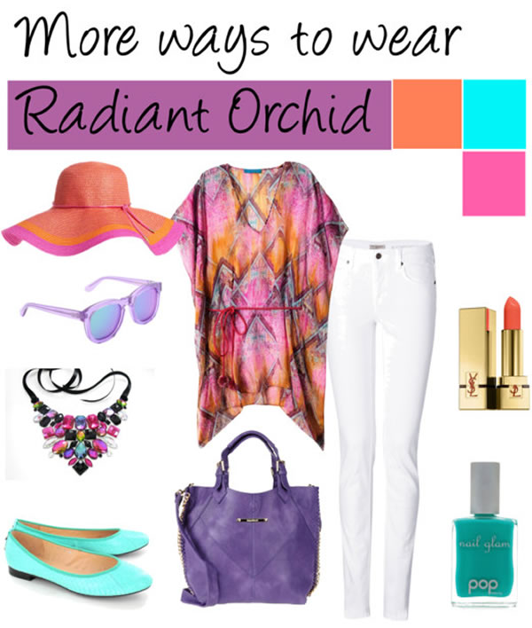 how you can wear radiant orchid | 40PlusStyle.com