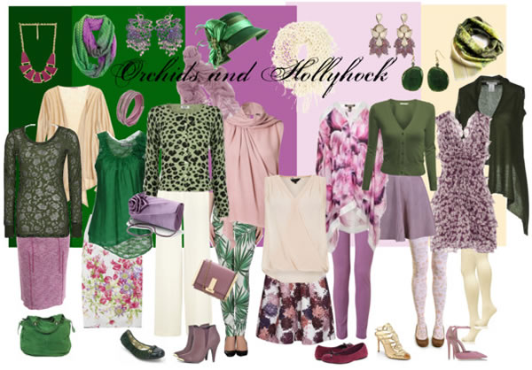 flowery and sweet orchid combinations - orchidsandhollyhock | 40PlusStyle.com