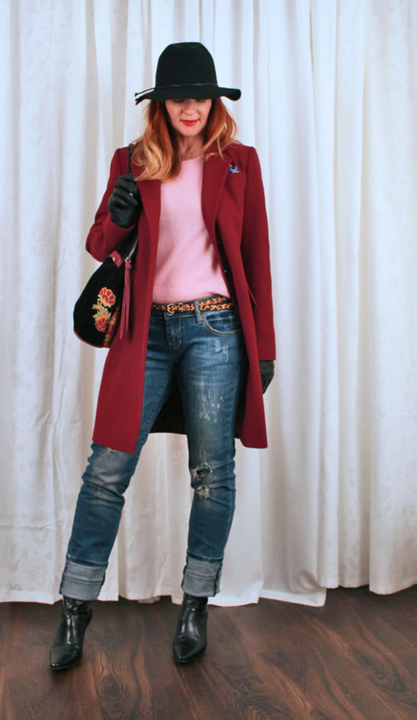 pink coat suzanne carillo | 40PlusStyle.com
