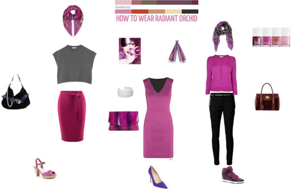 radiant orchid collage by Sue Walker | 40PlusStyle.com