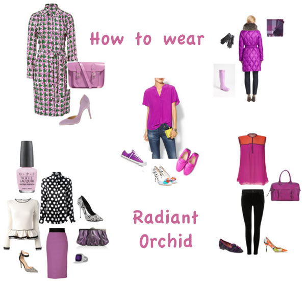ways to wear radiant orchid | 40PlusStyle.com