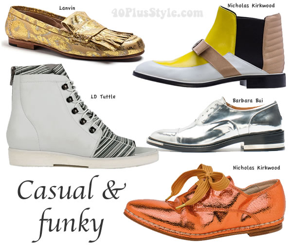shoe trends spring 2014: casual and funky | 40PlusStyle.com