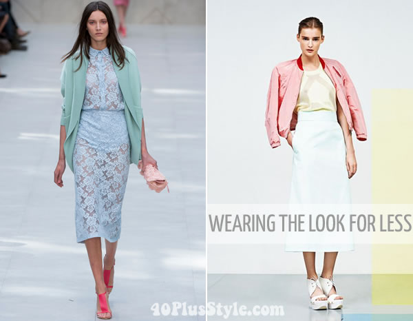 How to wear these pastel runway looks for much less | 40PlusStyle.com